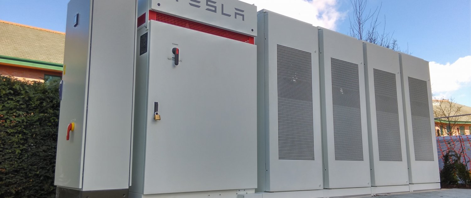 Tesla battery storage units