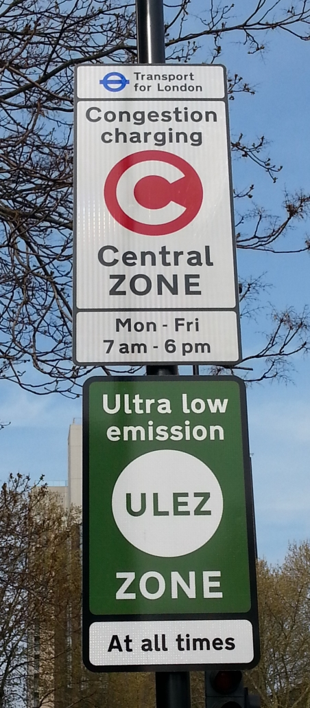 ULEZ and C-charge signs